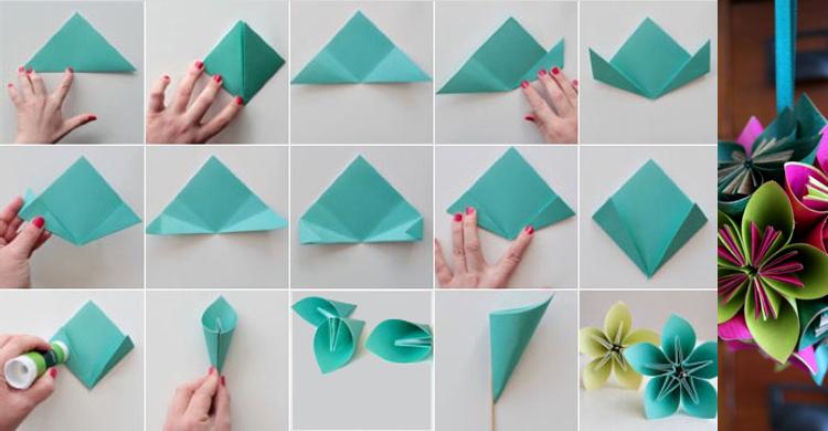 Se t quien decore aprende c mo hacer flores de papel - Como hacer rosas de papel ...